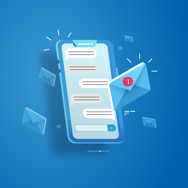 Message Concept Landing Page Free Vector