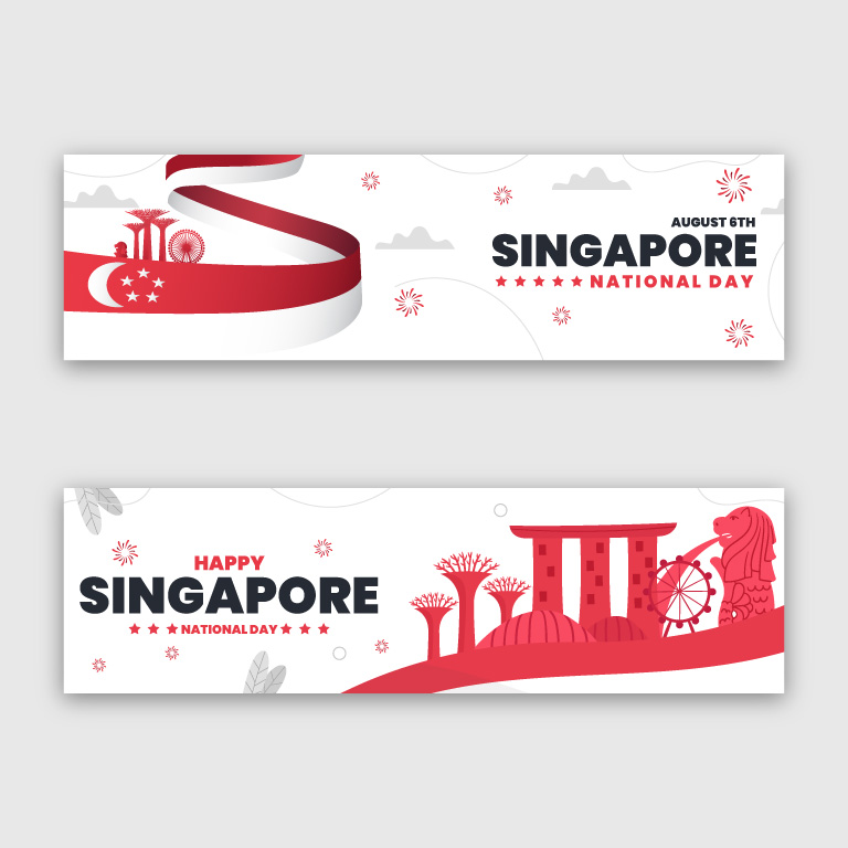 Singapore National Day 2021 Banner