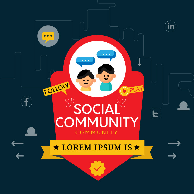 Free Vector Social Media Badge