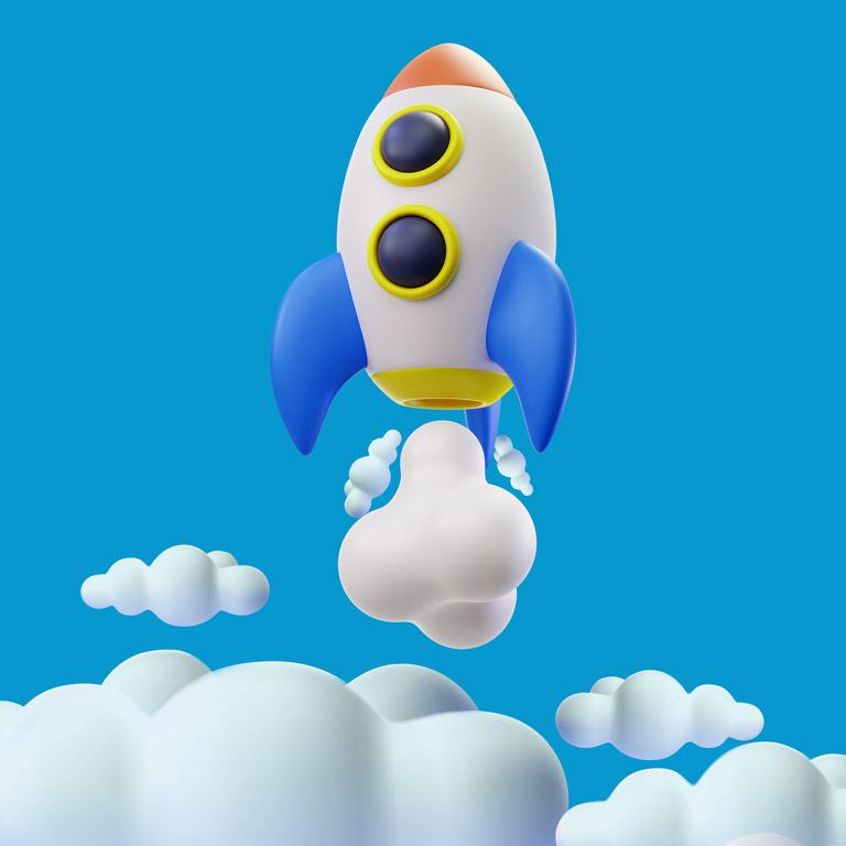 3D Rocket Free Psd