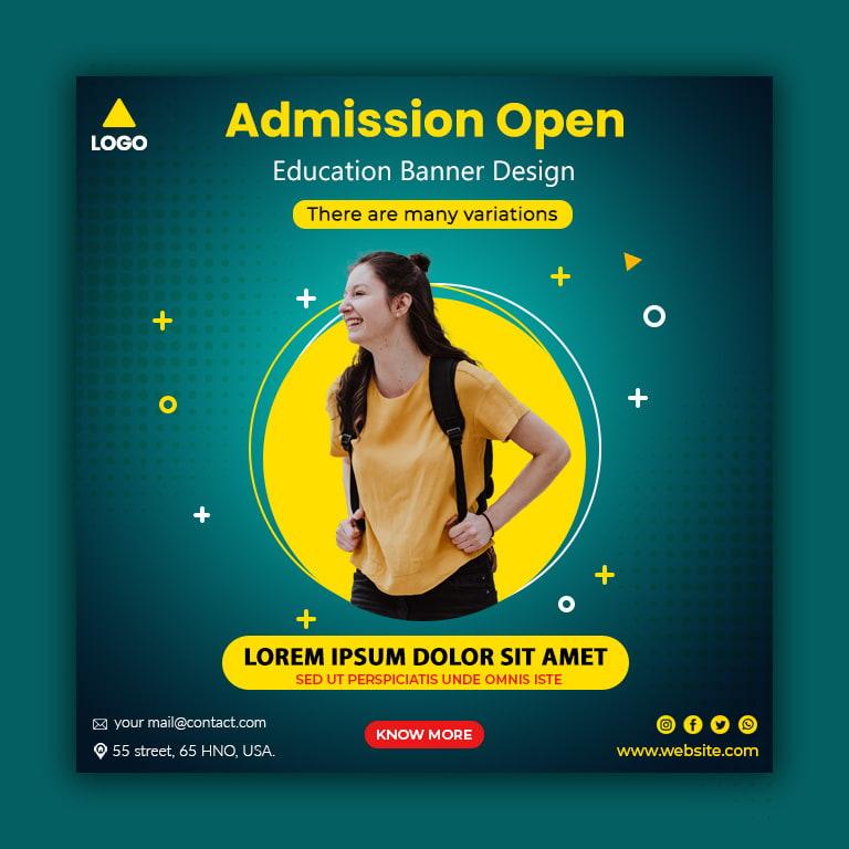 Admission Open Education Banner Design