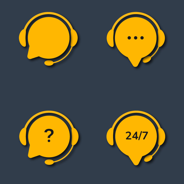 Customer Support Service Chat Icons