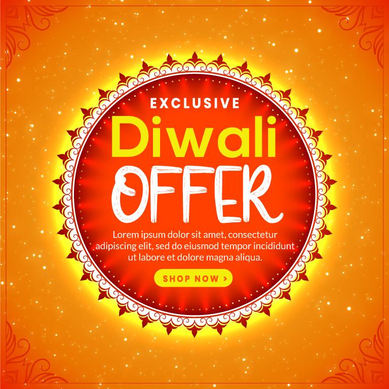 Diwali Banner Design Free Vector