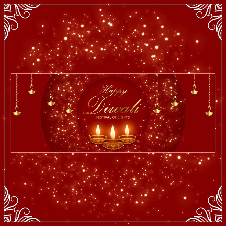 Happy Diwali Banner Design