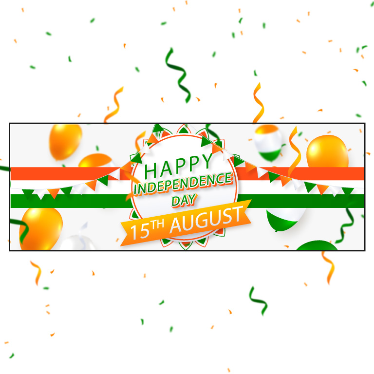 Independence Day Banner Design Free Vector