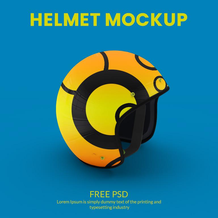 Motorcycle Helmet Mockup Free PSD