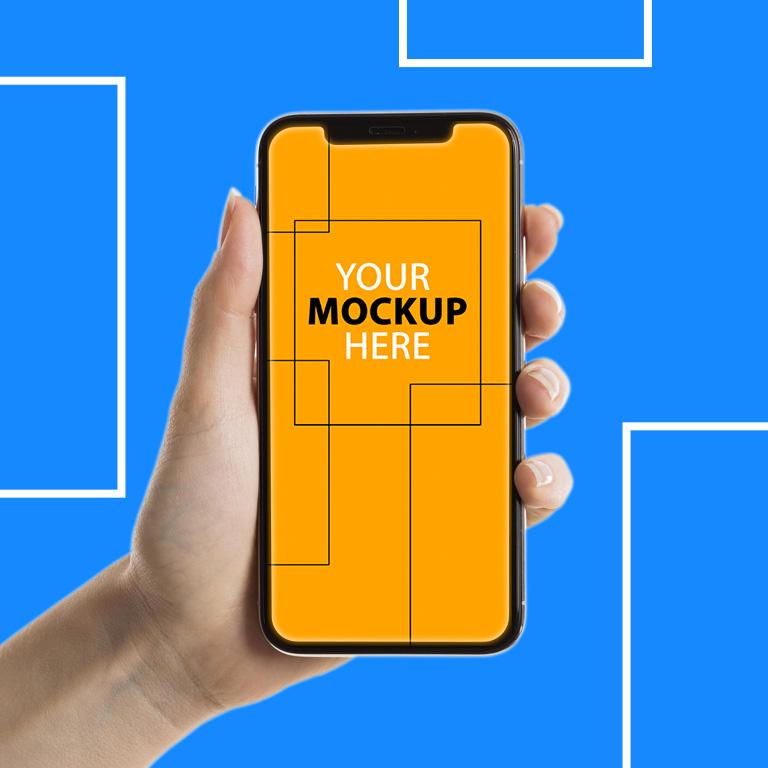 Phone Mockup PSD Template