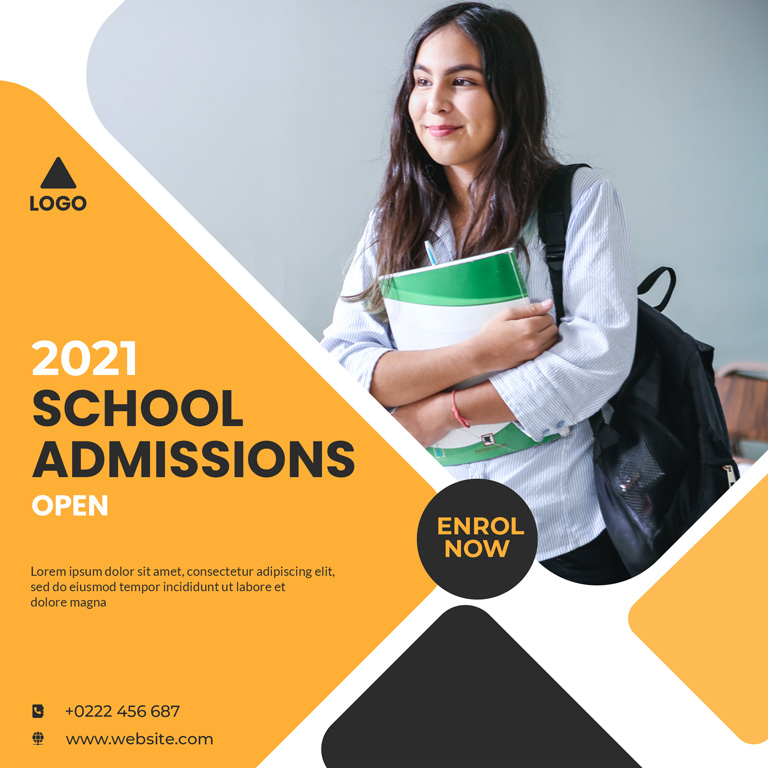 School Admission Banner Design