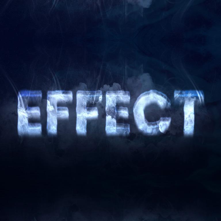 Text Smoke Effect Mockup Design