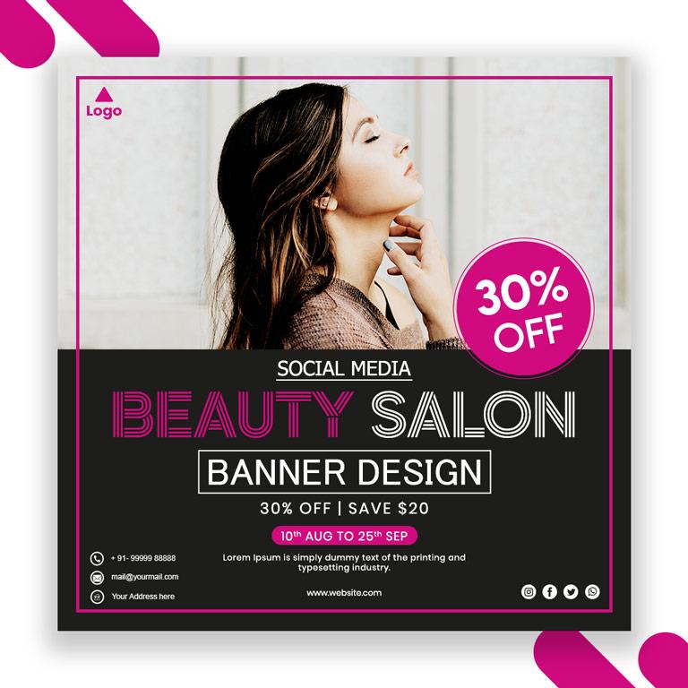 Beauty Salon Banner Design