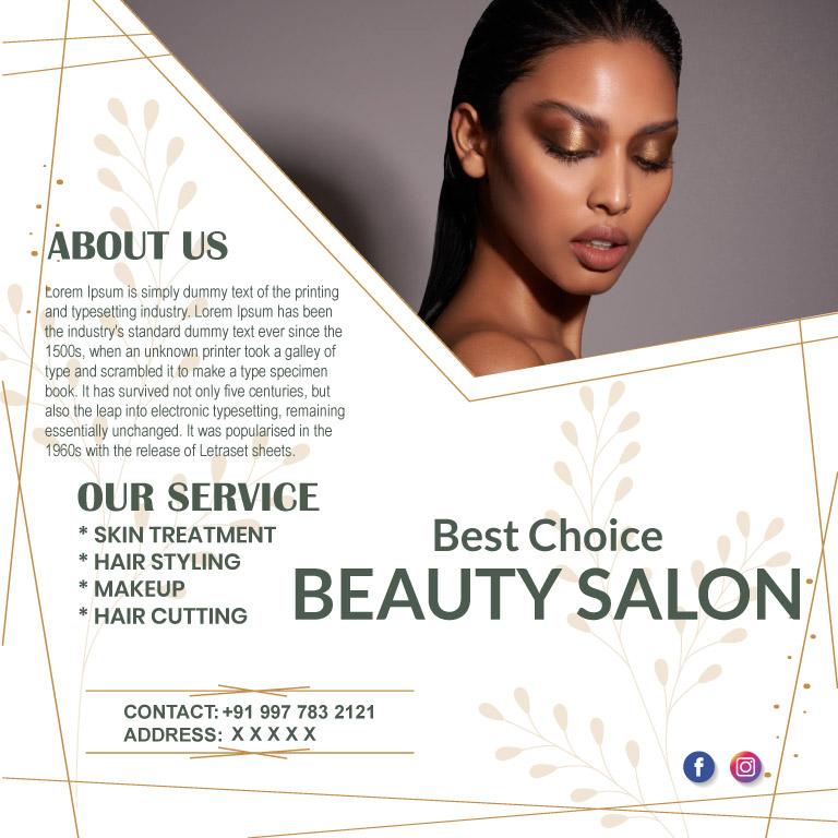 Best Choice Beauty Salon Banner Design