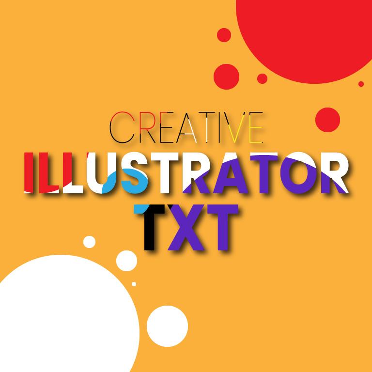 Creative Illustrator Text Design