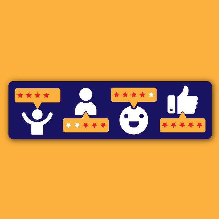 Customer Positive Review Feedback Free Vector