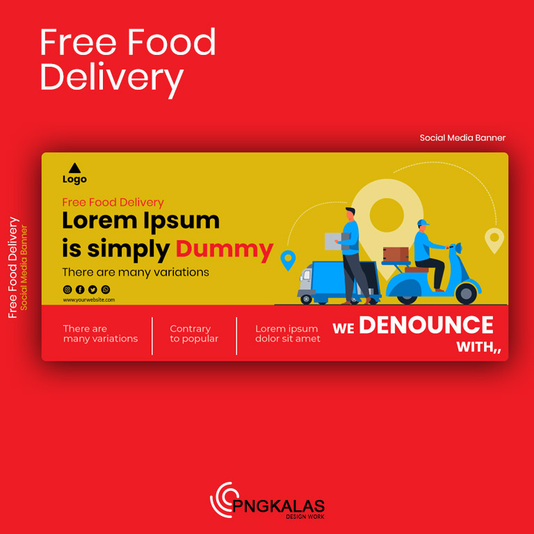 Food Delivery Social Media Post Template