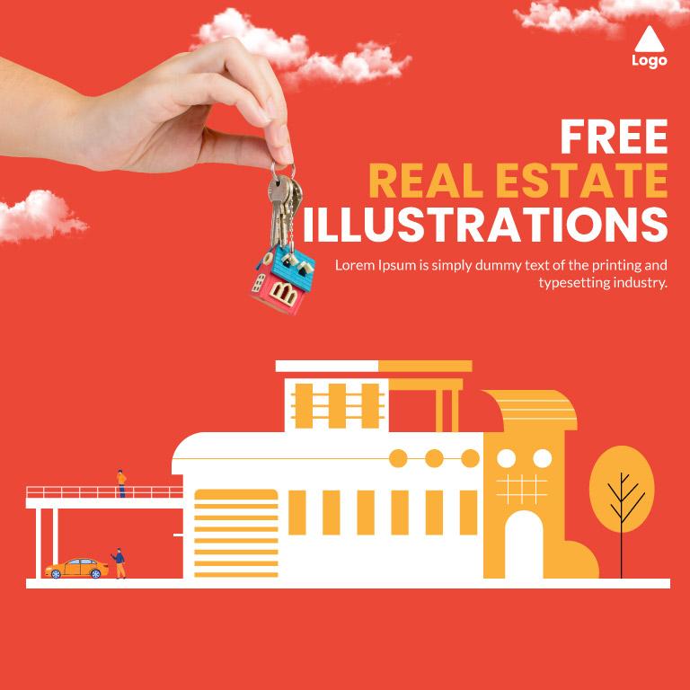 Free Real Estate Illustrations Design