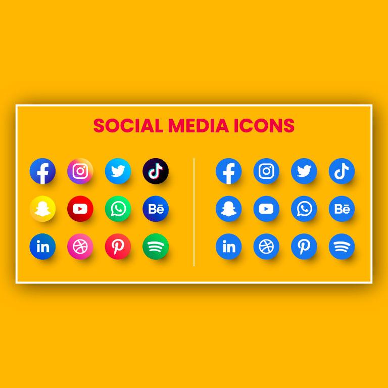 Free Vector Social Media Icons Design