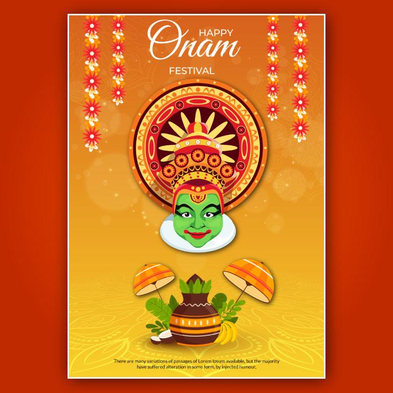 Happy Onam Poster Design