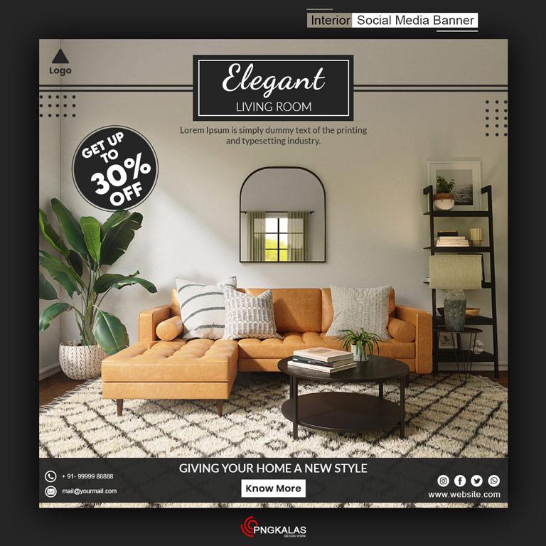Interior Design Social Media Banner