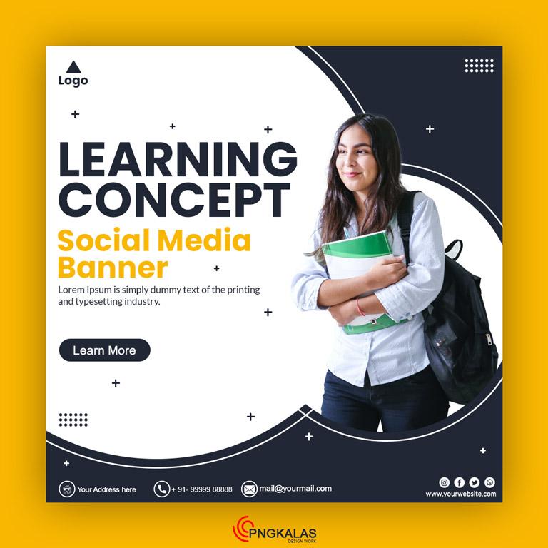 Learning Concept Social Media Banner Template