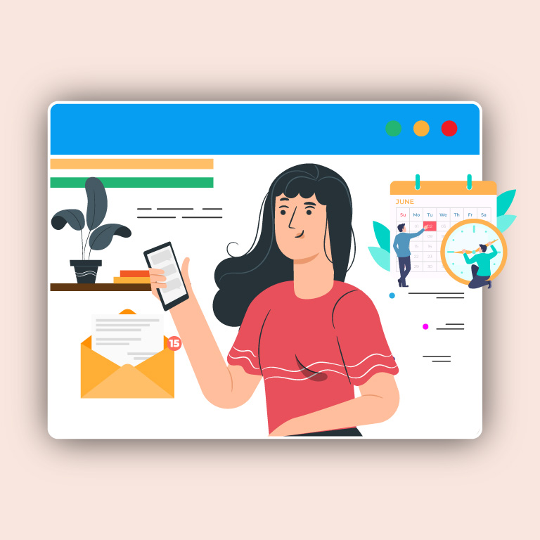 Messaging Concept Illustration Vector Template