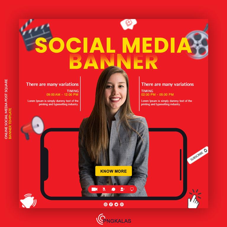 Online Classes Social Media Banner Template