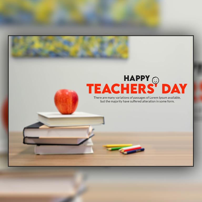 Teachers' Day Banner Design