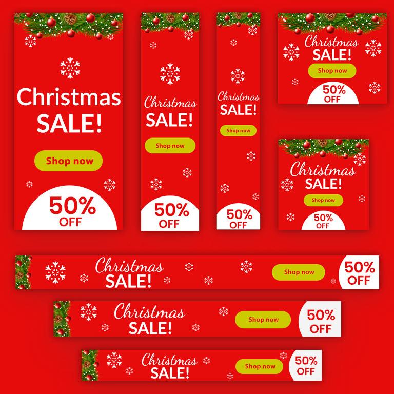 Christmas Sale Ads Design Templates