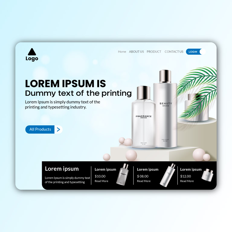 Beauty Product Website Landing Page