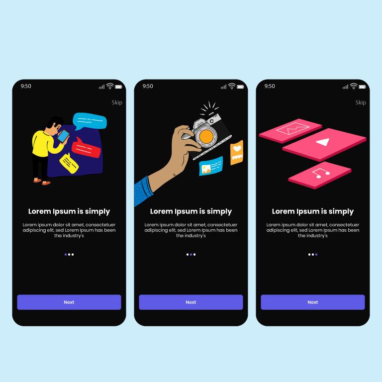 App Screen Design Templates