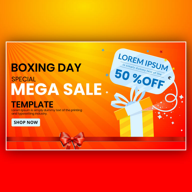 Boxing Day Sale Banner Design