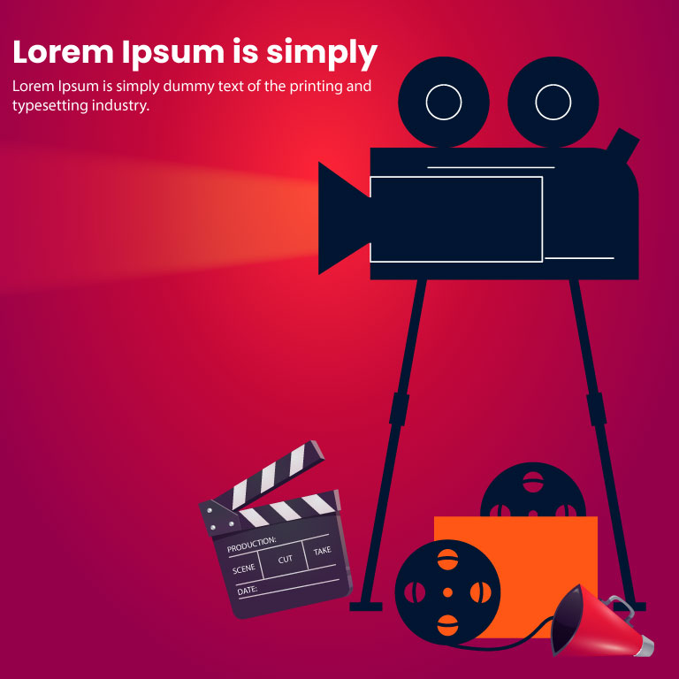 Cinema Design Concept Illustration