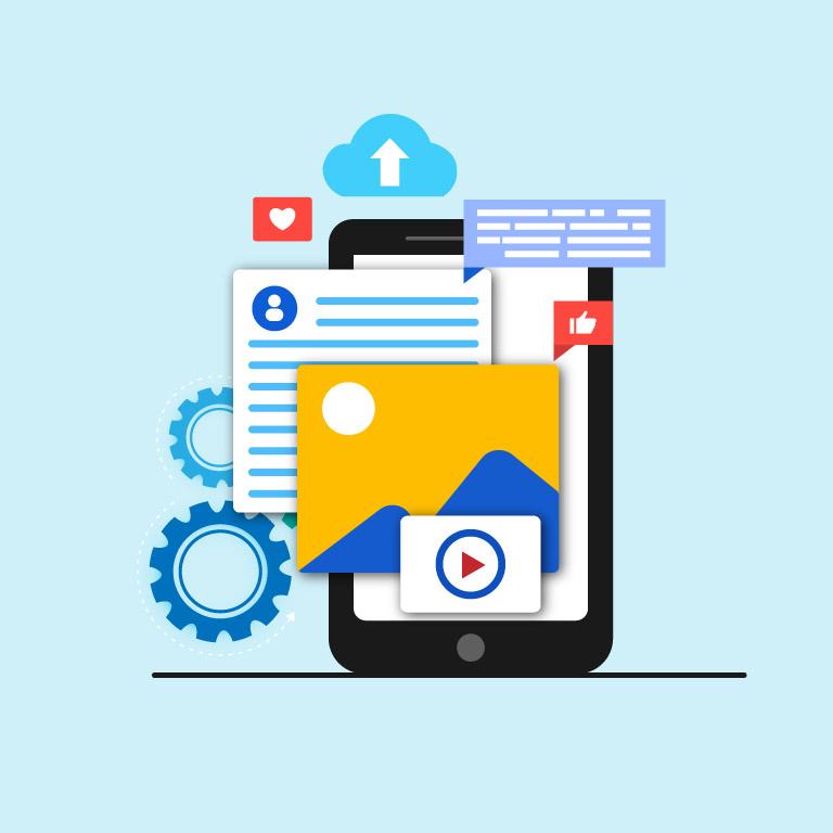 Digital Media Data Concept Design Template