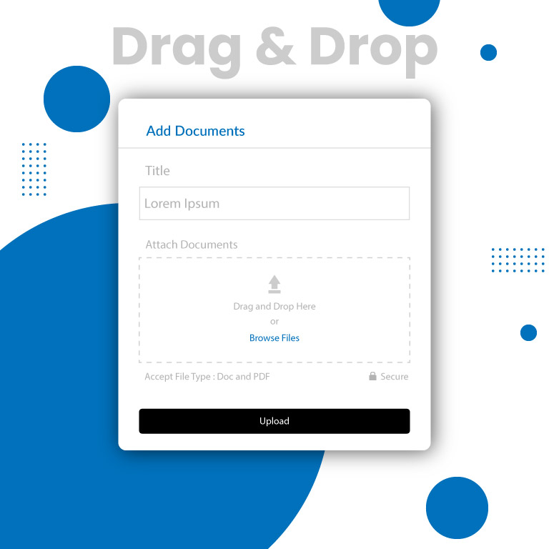 Drag and Drop File Upload UX Template