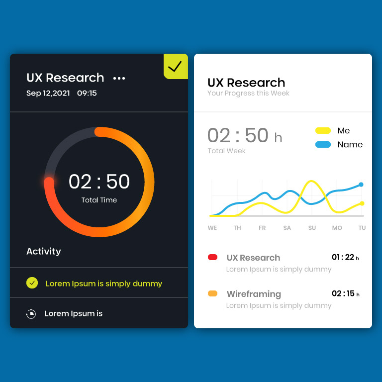 Elements for Dashboard UI Design