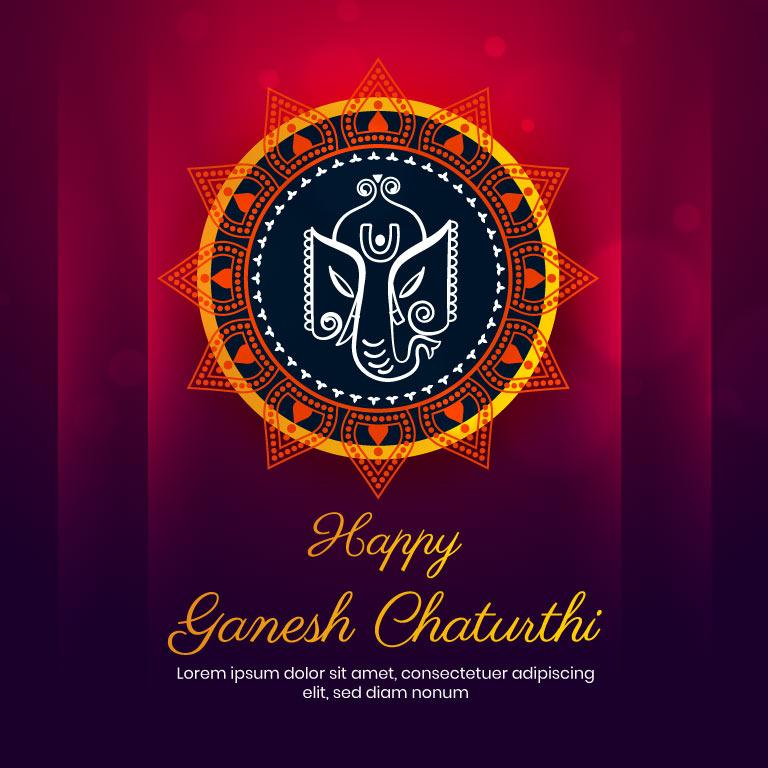 Ganesh Chaturthi Banner Design 2021