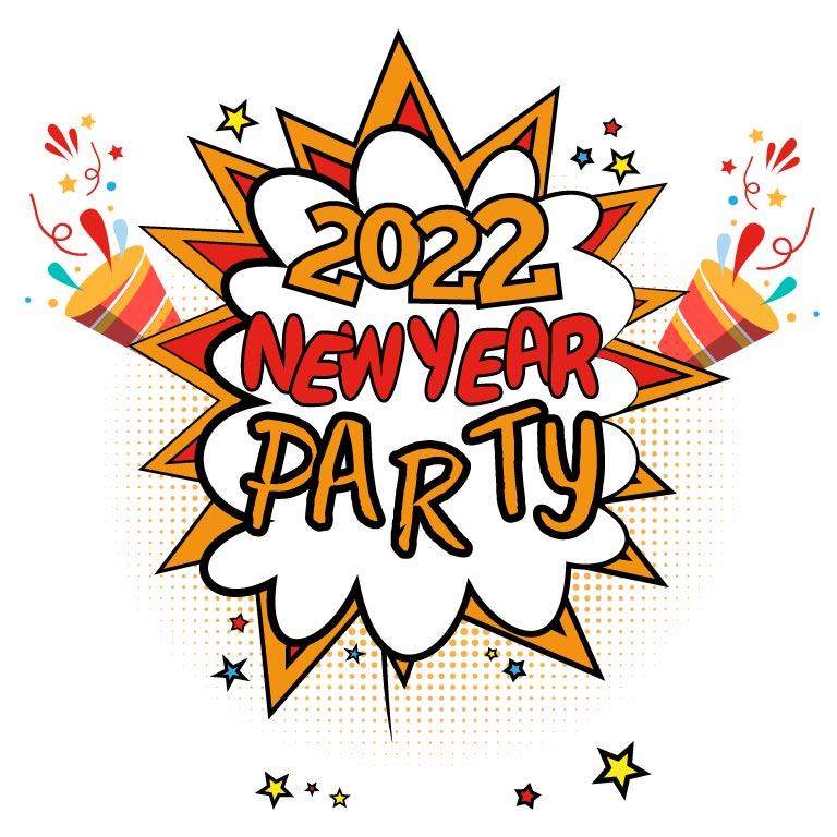 New Year 2022 Png Party Template