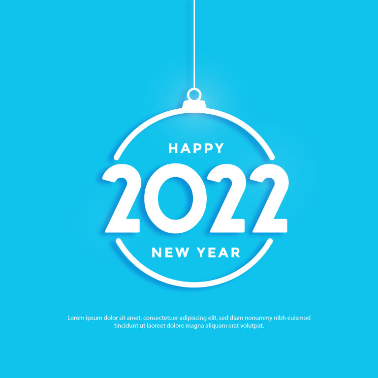 New Year Greeting Card Free Vector