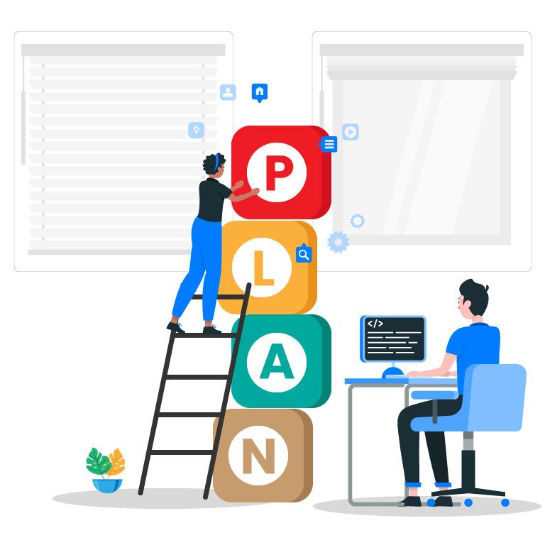 Plan Concept Illustration Design