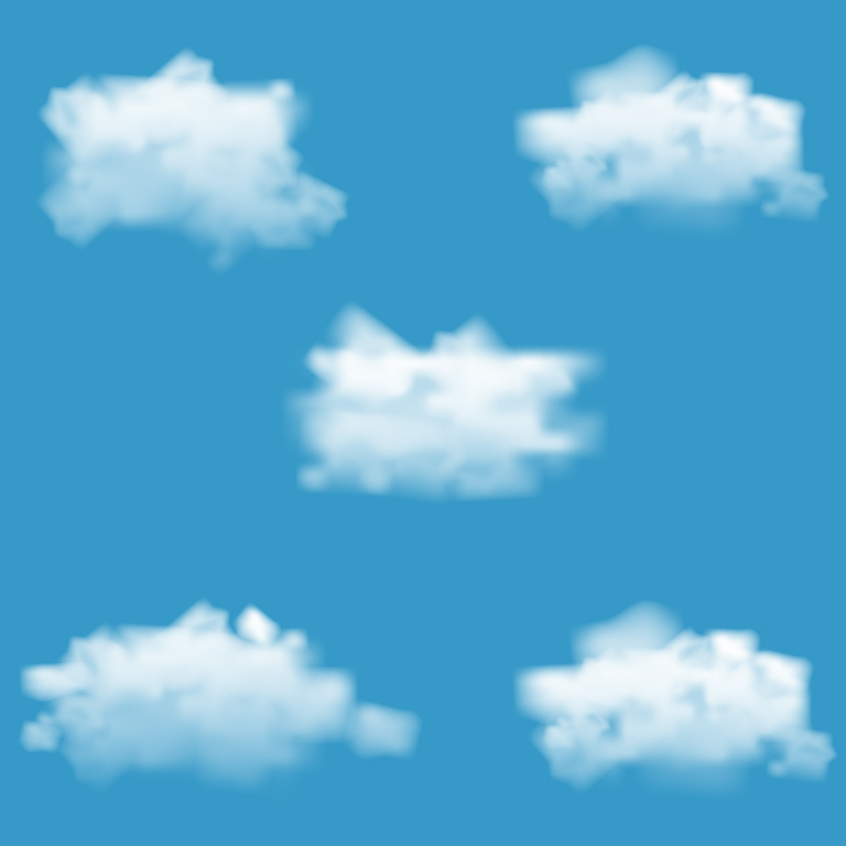 Realistic Vector Cloud Template