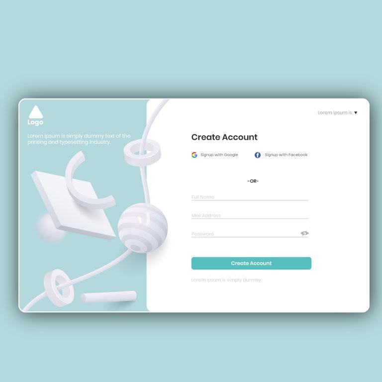 Website Landing Page UI Design