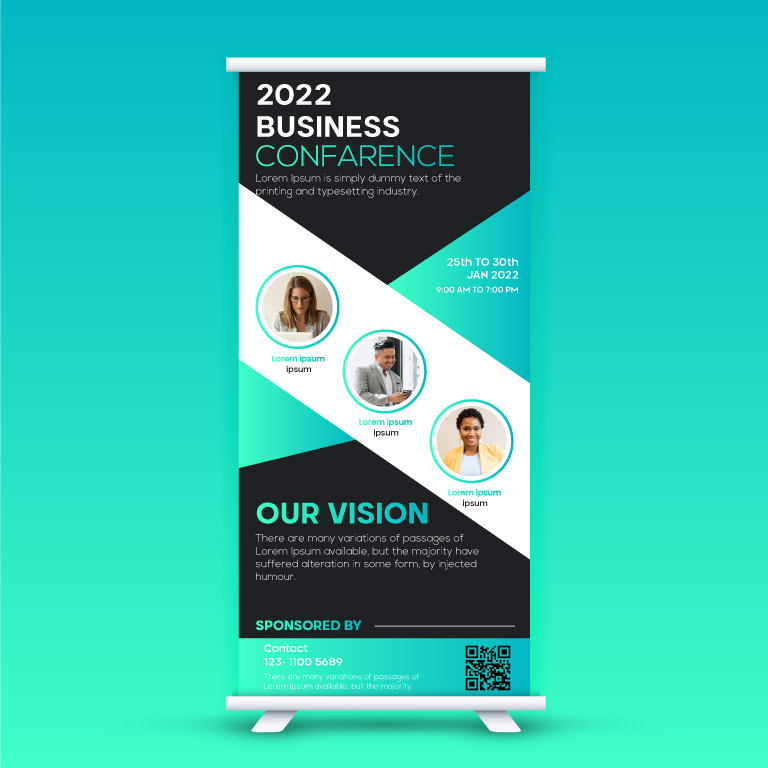 Business Conference Rollup Standee