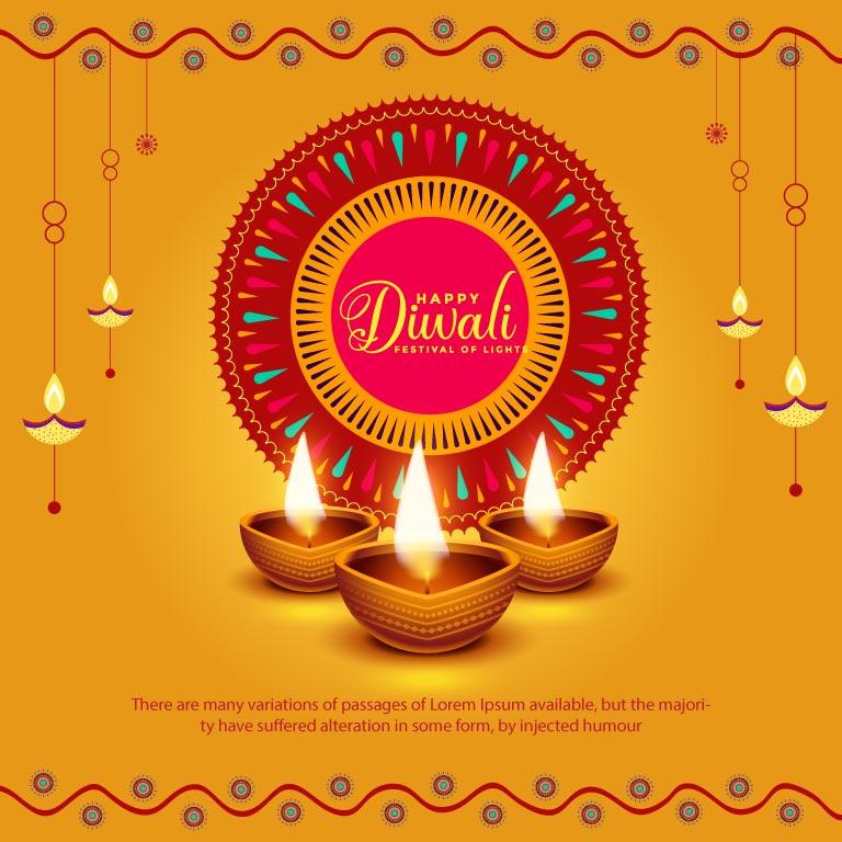 Diwali Banner Design Free Vector Template 2021