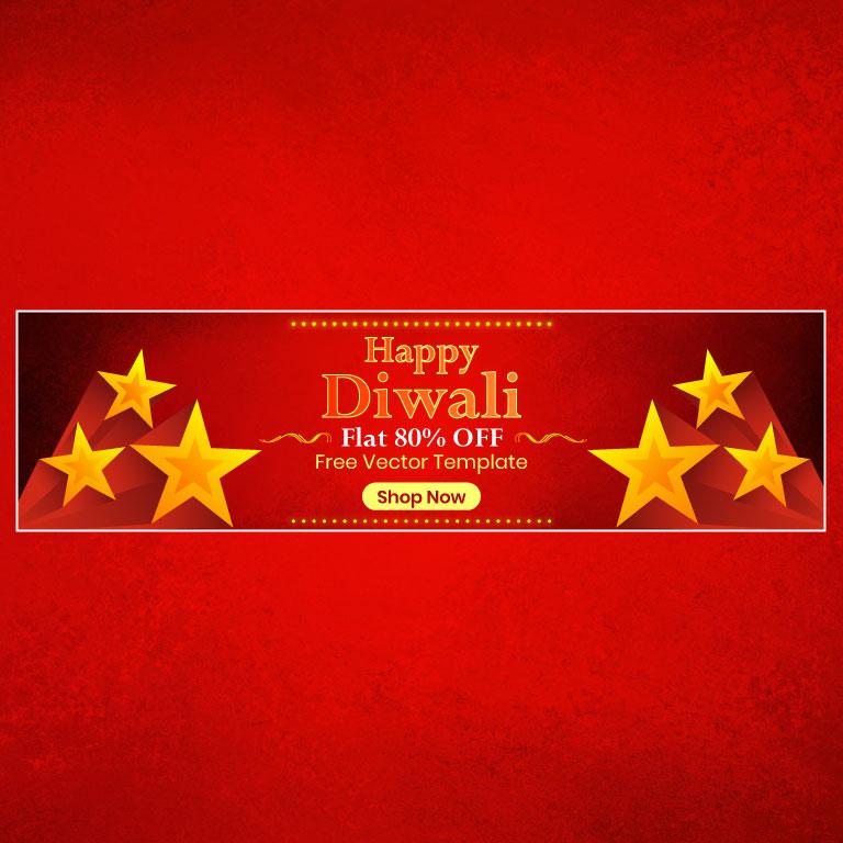 Diwali Banner Design Free Vector Template