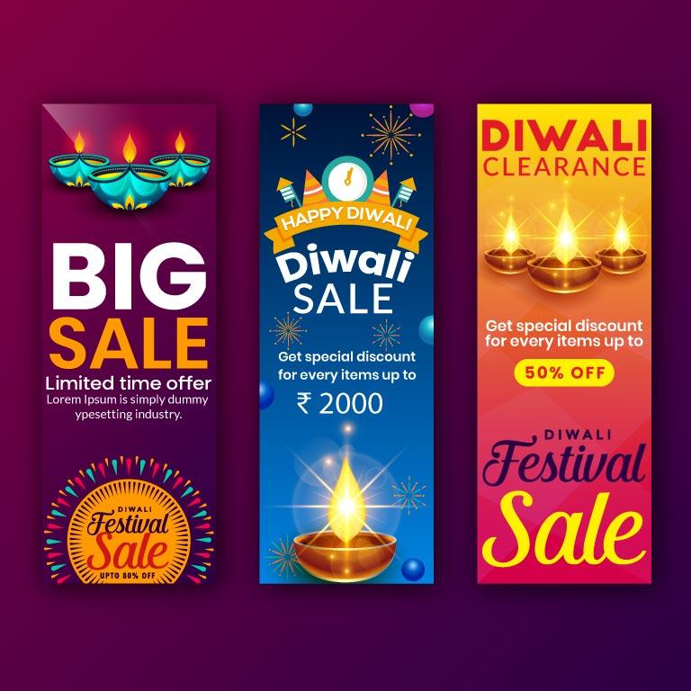 Diwali Sale Offer Banner Design