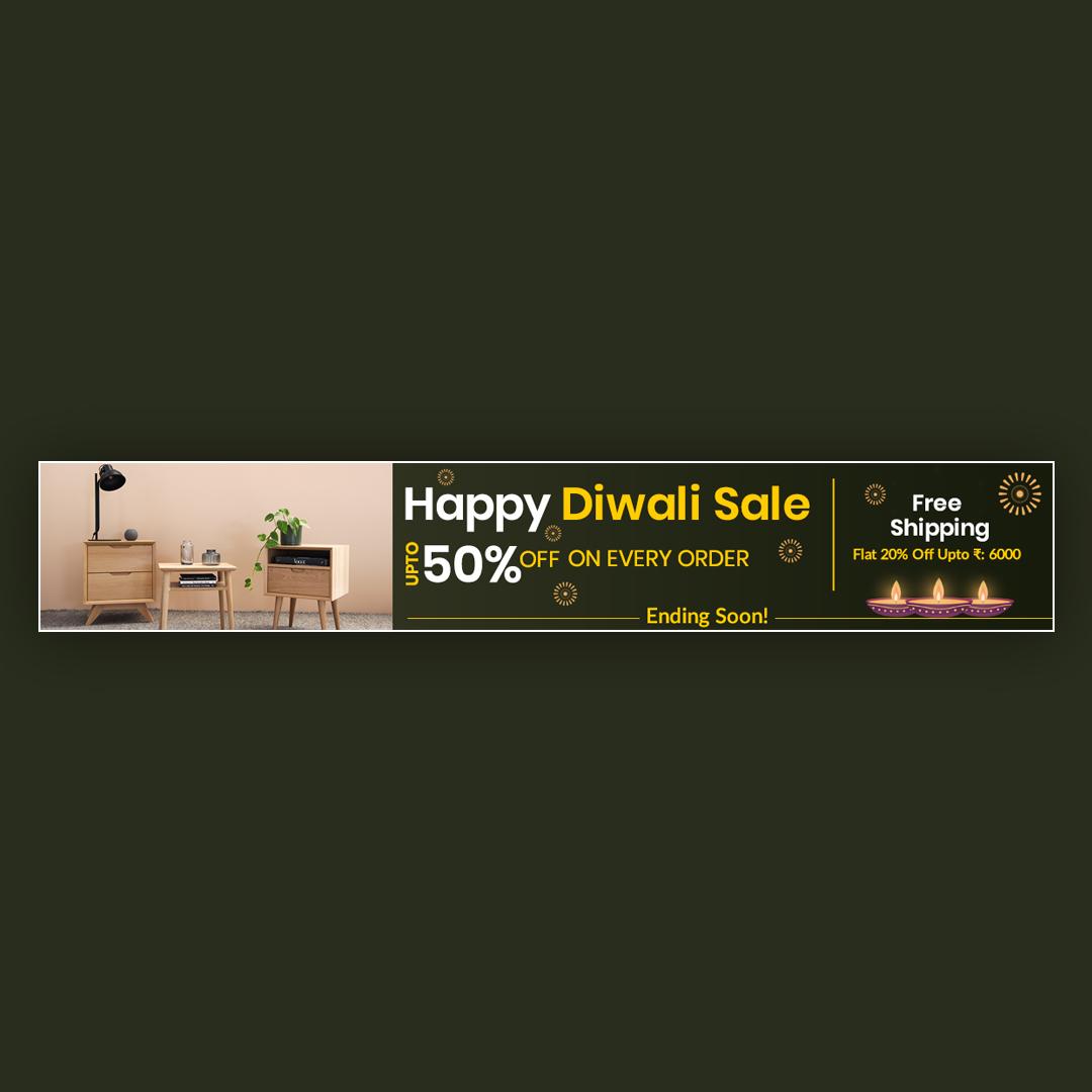 Diwali Website Offer Banner Design