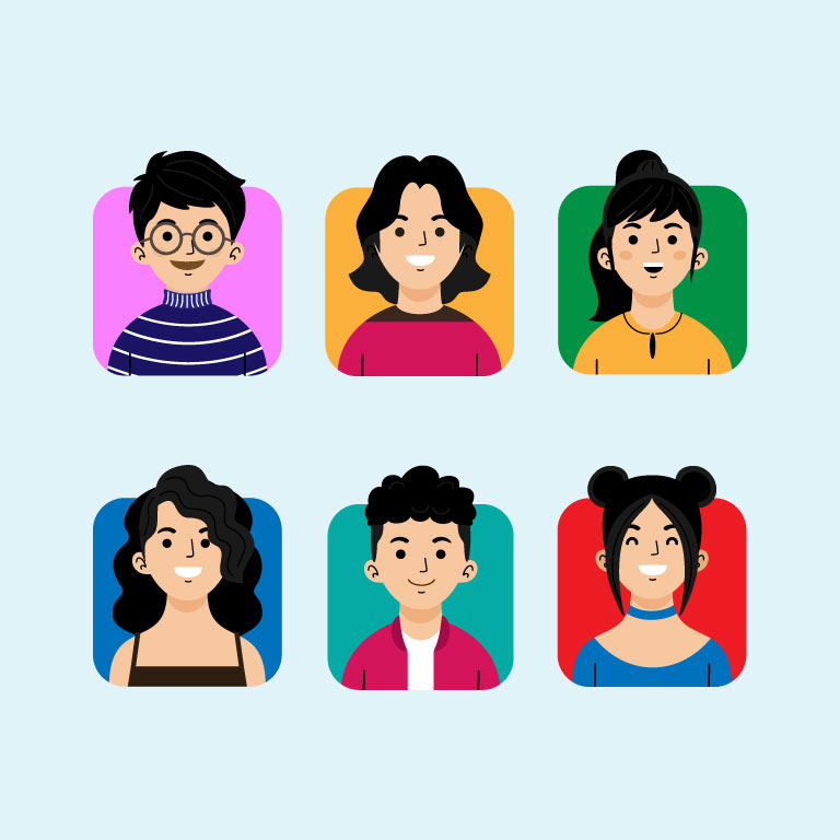 Profile Icons Pack Free Vector