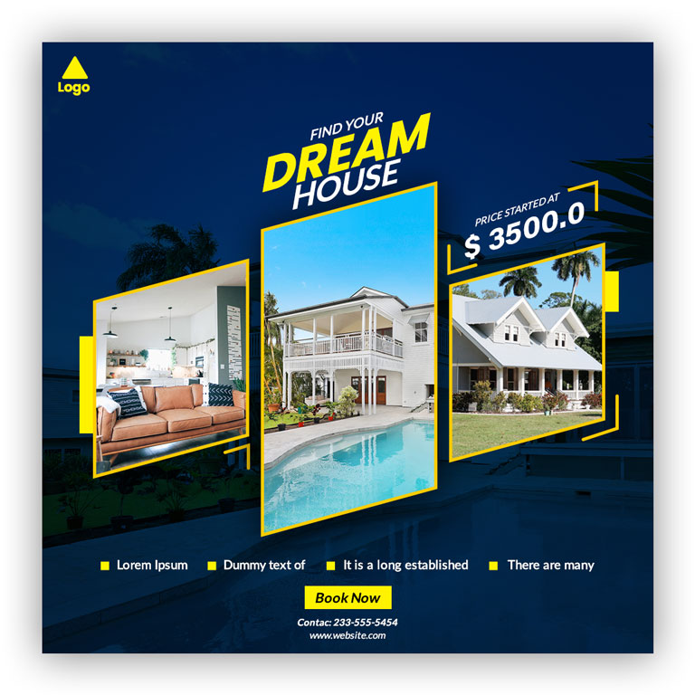 Real Estate Instagram Social Media Banner Template