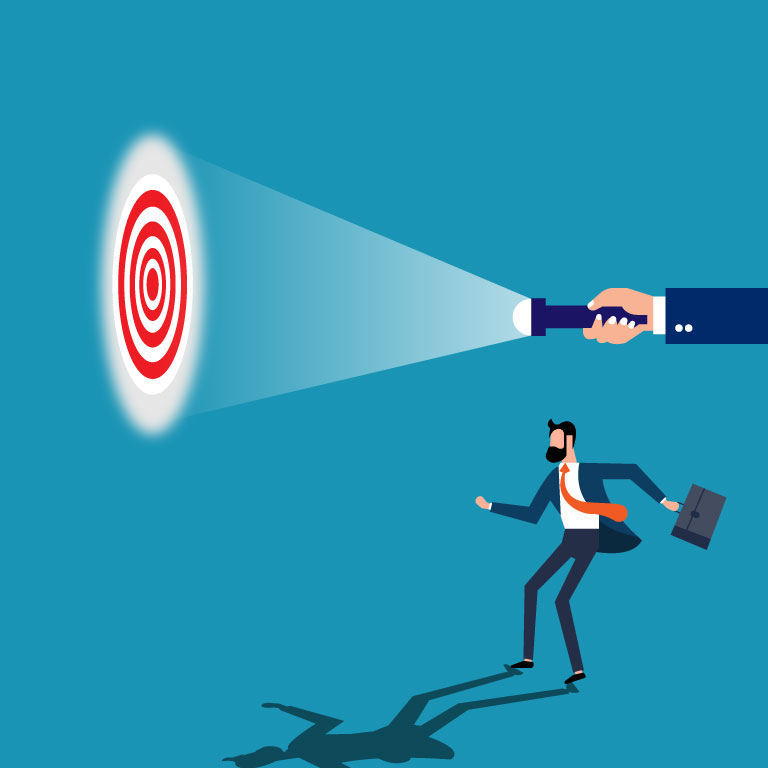 Targets for Shooting Success Concept Vector Illustrator